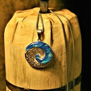 Ocean Pendant and Necklace